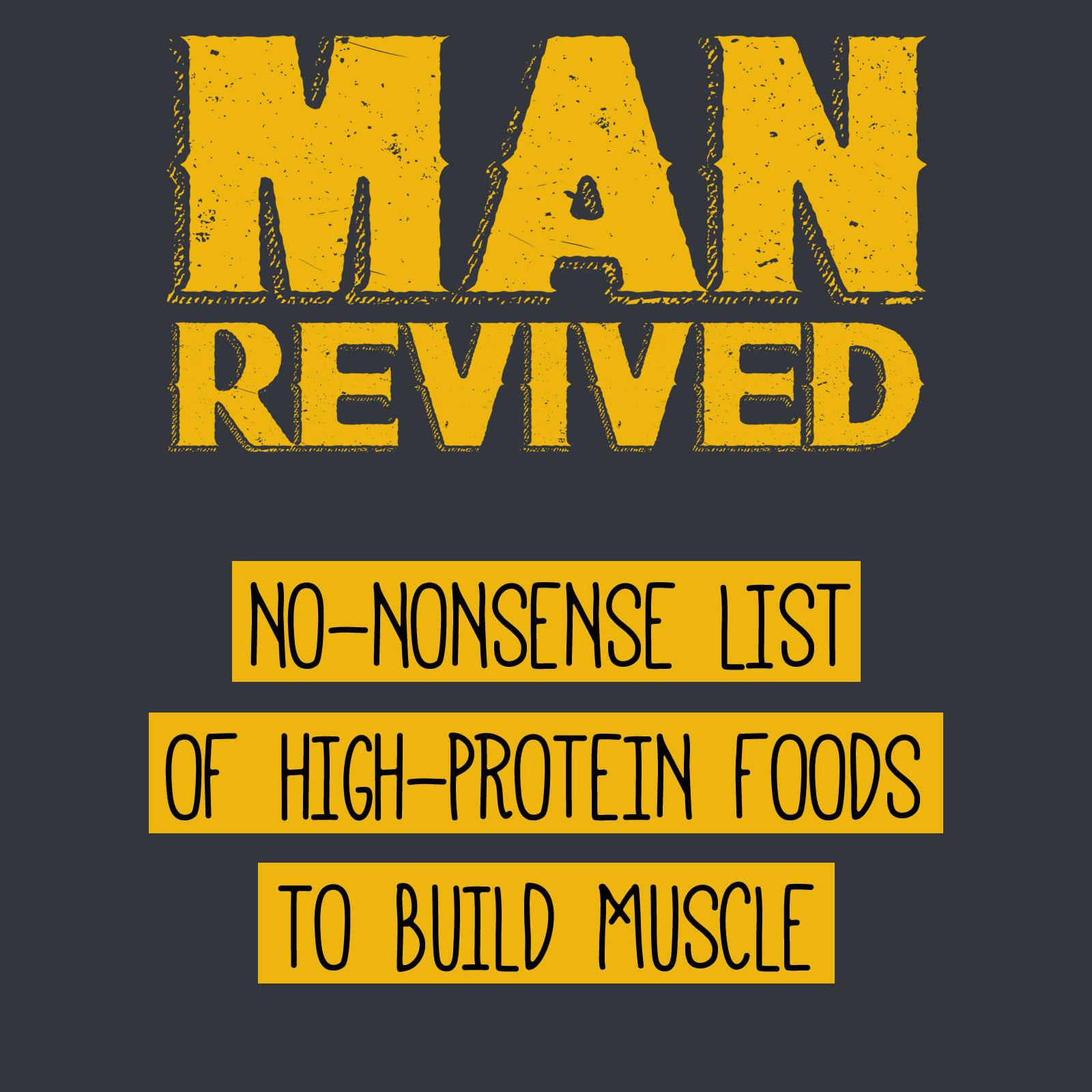 high protein foods list header