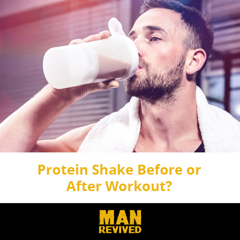 protein shake before or after header